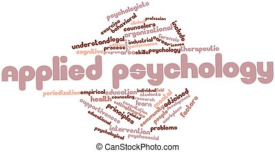 Applied psychology - Abstract word cloud for Applied...