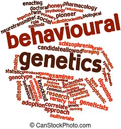 Behavioural genetics - Abstract word cloud for Behavioural...