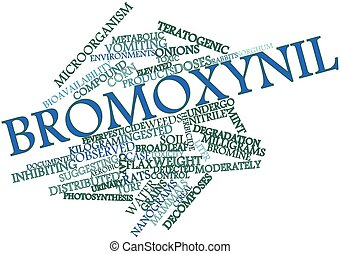 Word cloud for Bromoxynil - Abstract word cloud for...