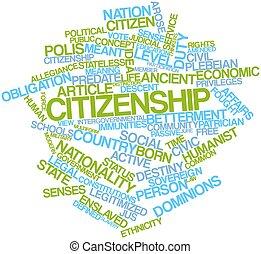 palabra, nube, ciudadanía