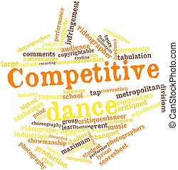 Word cloud for Competitive dance - Abstract word cloud for...