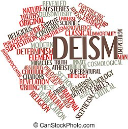 Deism - Abstract word cloud for Deism with related tags and...
