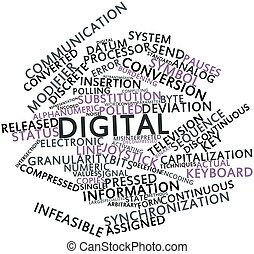 Digital - Abstract word cloud for Digital with related tags...