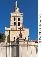 Notre Dame des Doms church located at Avignon, France -...