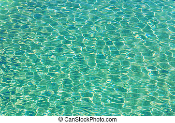 pool water with sun reflections