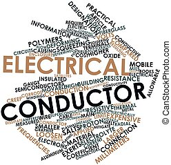 Word cloud for Electrical conductor - Abstract word cloud...