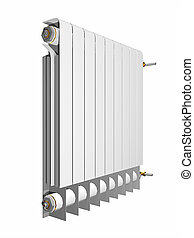 heater - An illustration of a white radiator heater