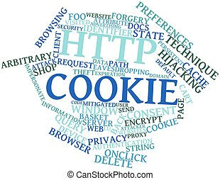 HTTP cookie - Abstract word cloud for HTTP cookie with...