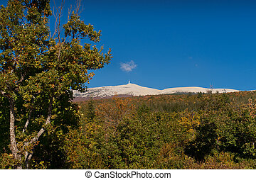 The road to the Mt Ventoux - The road of Bedoin, climbing...