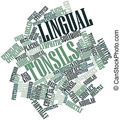 Lingual tonsils - Abstract word cloud for Lingual tonsils...