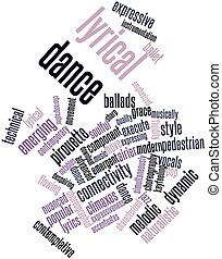 Lyrical dance - Abstract word cloud for Lyrical dance with...