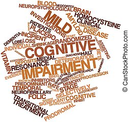 Word cloud for Mild cognitive impairment - Abstract word.