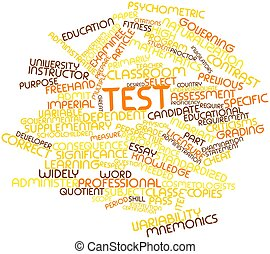 Word cloud for Test - Abstract word cloud for Test with...
