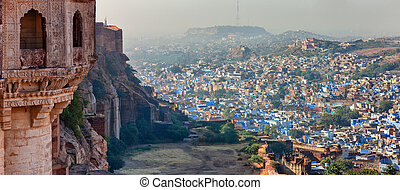 Jodhpur - A view of Jodhpur, the Blue City of Rajasthan,...