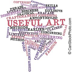Word cloud for Useful art - Abstract word cloud for Useful...