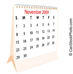 Calendar of a desktop 2009 for November