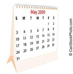 Calendar of a desktop 2009 for May
