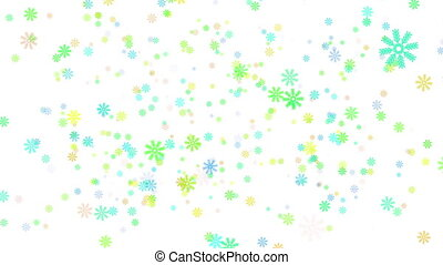 Snow on white background