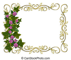 Ivy Floral design border - Illustration and image...