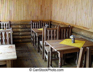 Small cafe in folk style - Small cafe in simple folk style
