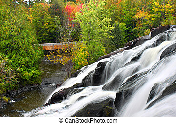 Bond Falls Michigan - Bond Falls is a spectacular waterfall...