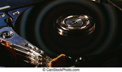 Hard disk, Hypnotic spiral - Computer Hard Disk, Hypnotic...