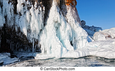 Lake Baikal. Island Olkhon. An ice cave