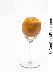 Orange in a Martini Glass