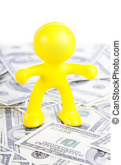 little yellow man to stand for dollar
