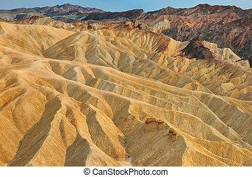 Death valley Zabriskie point landscape