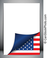 USA Country Flag Turning Page - Vector - USA Country Flag...