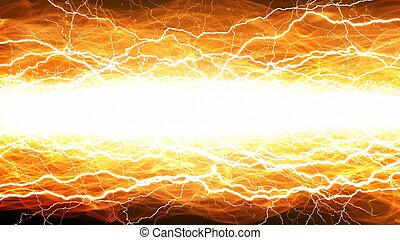 Lightnings and fire - Abstract wide background - bright...