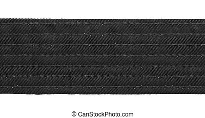 Karate Black Belt - Karate black belt closeup isolated on...