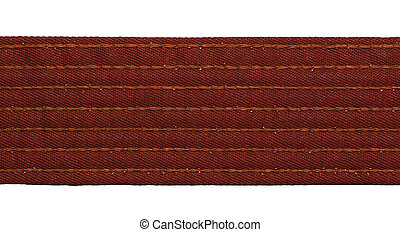 Karate Brown Belt - Karate brown belt closeup isolated on...