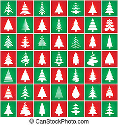 Christamas tree concept silhouette design - Chtistmass trees...