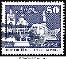 Postage stamp GDR 1974 Old and New Buildings - GDR - CIRCA...