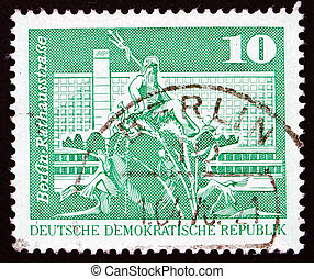 GDR - CIRCA 1973: a stamp printed in GDR shows Neptune...