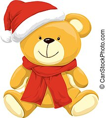 Christmas Teddy Bear, illustration - Christmas Teddy Bear...