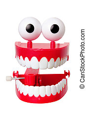 Chattering Teeth Toy on White Background