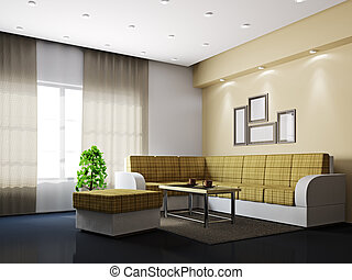 Livingroom with sofa and a table