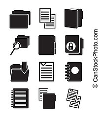 files icons over gray background. vector illustration