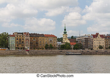 typical buildings 19th-century in Buda Castle district of...