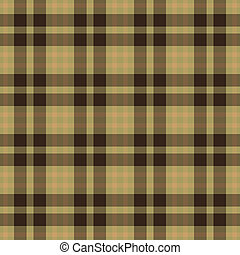 Seamless Warm Plaid - Seamless plaid pattern in earth tones...