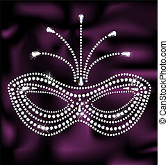 jewelry mask - on a dark purple silk is abstract jewelry...