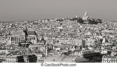 Butte Montmartre, Paris - butte montmartre with sacred heart...