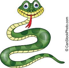 Snake cartoon - Vector illustration of funny snake cartoon