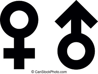 male and female symbols - symbols for male and female