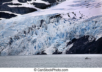 Blue Portage Glacier Lake Anchorage Alaska