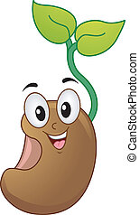 Seedling Mascot - Mascot Illustration of a Seedling Smiling...