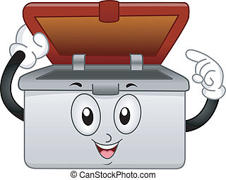 Container Mascot - Mascot Illustration of a Pastic Container...